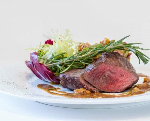 Meat dishes at Erbenhof